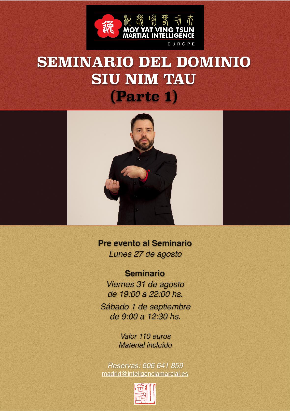 Seminario para Futuros Tutores Dominio Siu Nim Tau 1ra. Parte