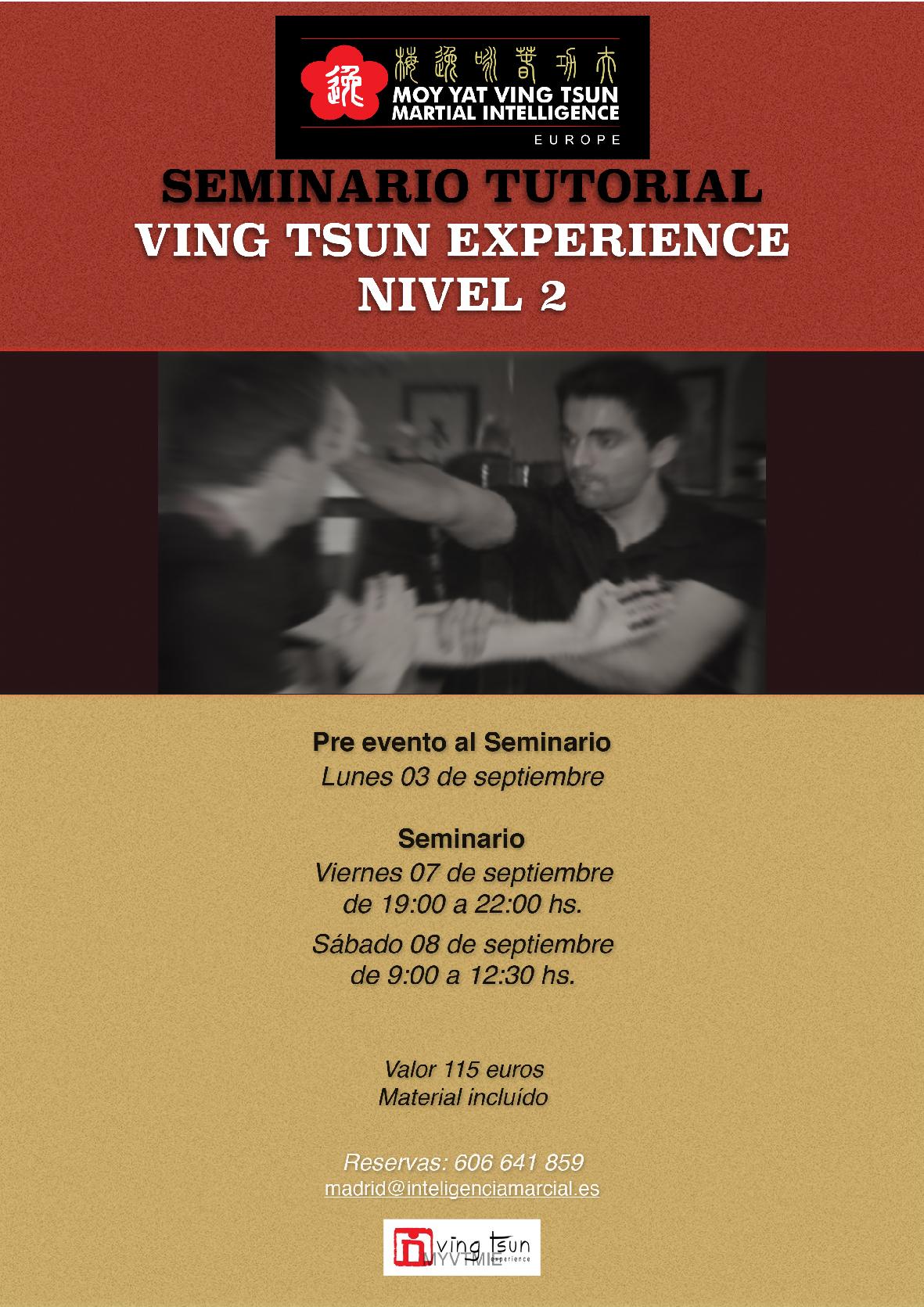 Seminario Ving Tsun Experience Nivel 2
